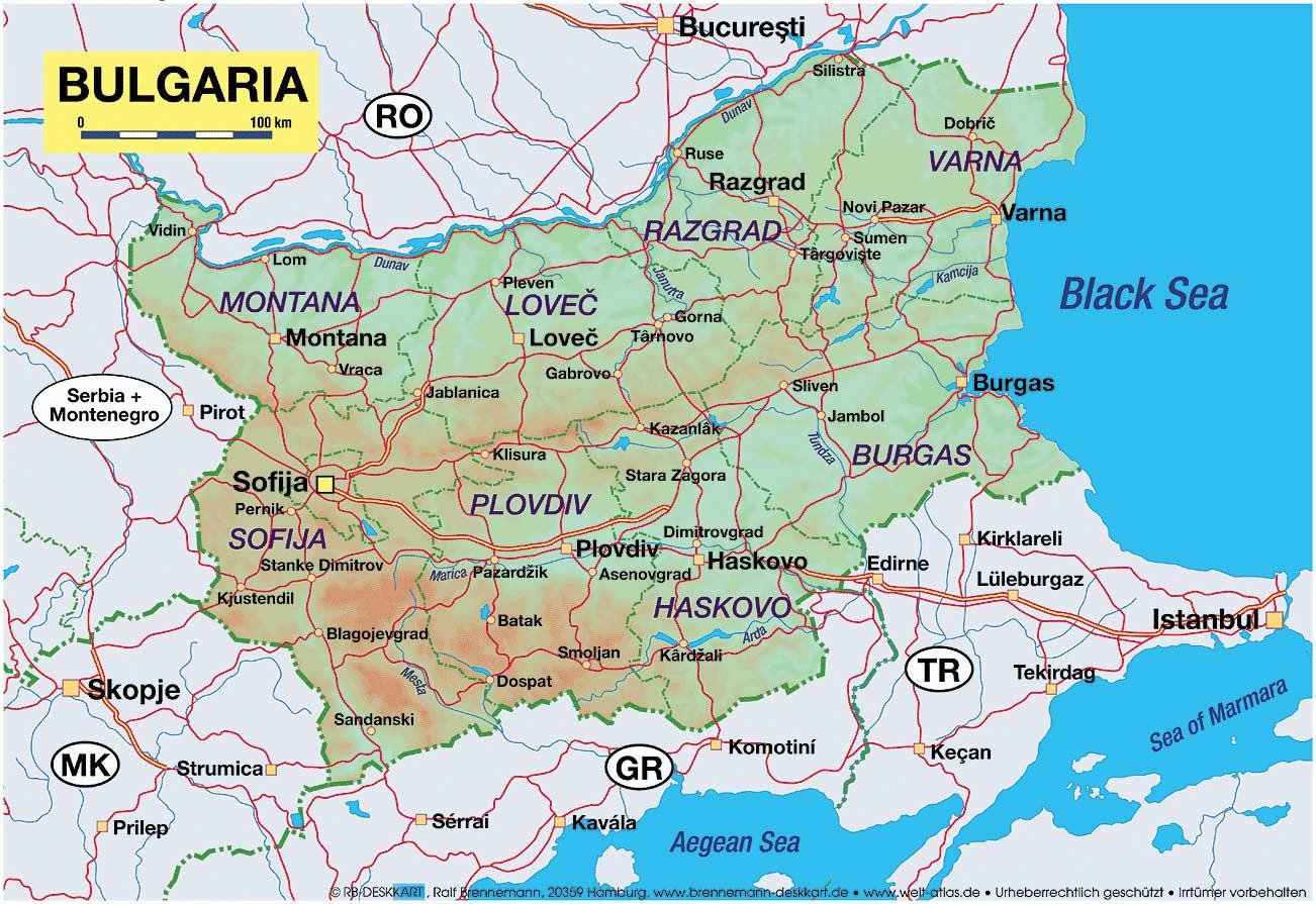 Harta Albena Bulgaria Harta